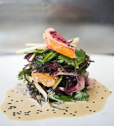 Arame Seaweed Salad with Tahini Orange Dressing (by Ninaroid)