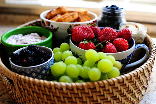 Grapes, Strawberry, Fruit
