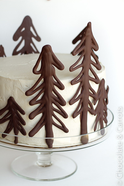 Chocolate Raspberry Forest Cake ~ via Chocolate and Carrots