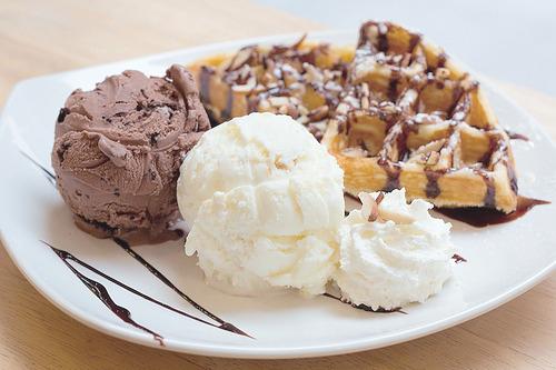 Ice-Cream, Waffle