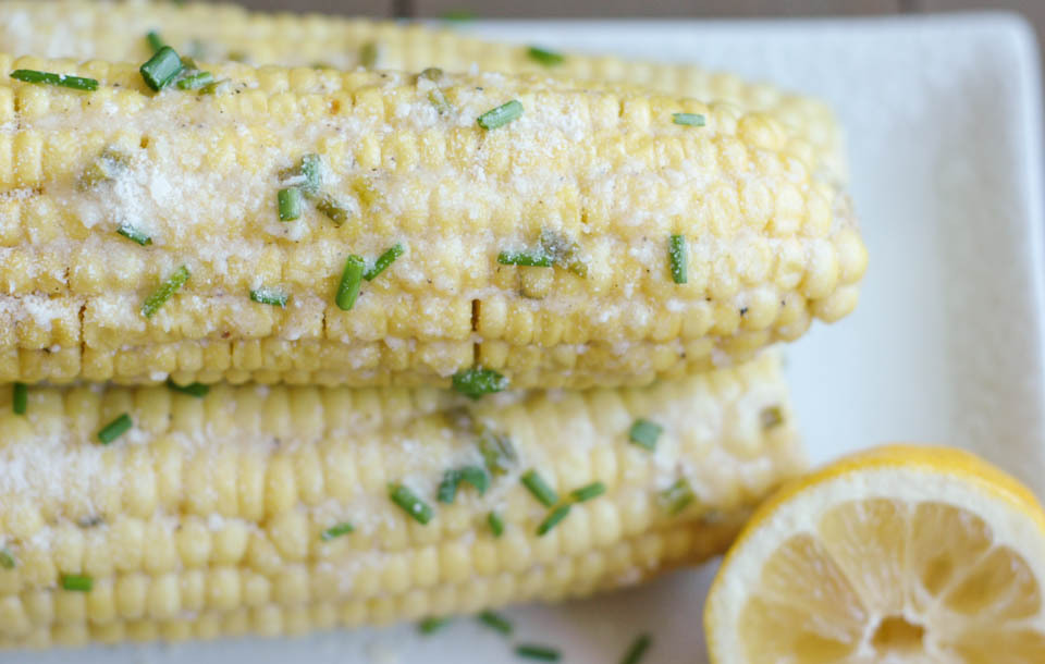 Lemon Parmesan Corn On The Cob