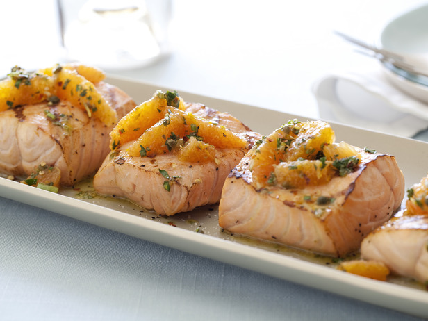 Grilled Salmon with Citrus Salsa Verde