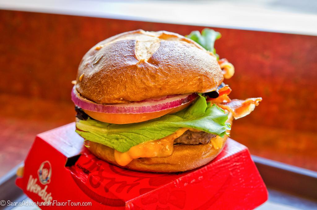 Pretzel Bacon Cheeseburger