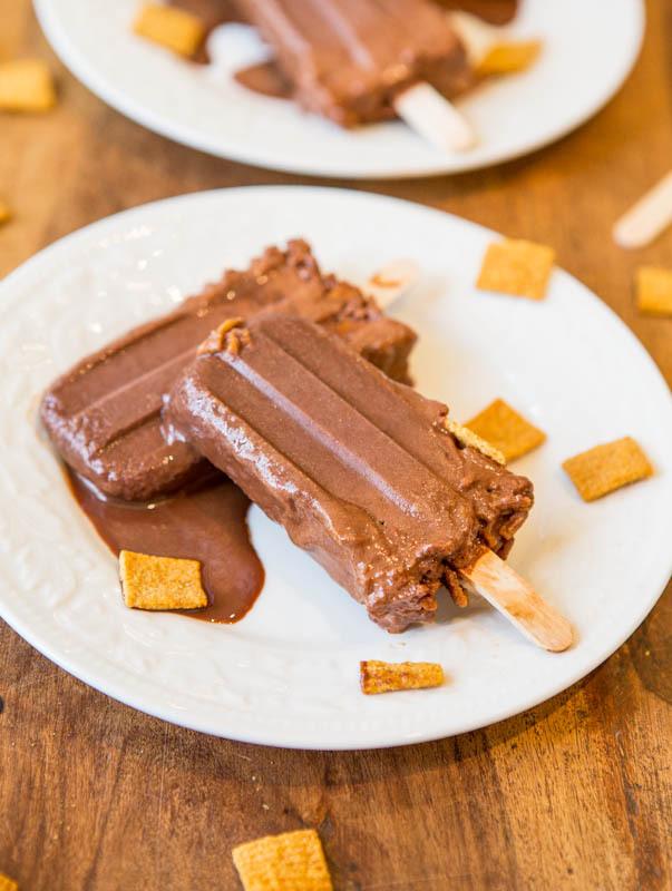 Recipe: Skinny Chocolate Peanut Butter Graham Fudge Pops