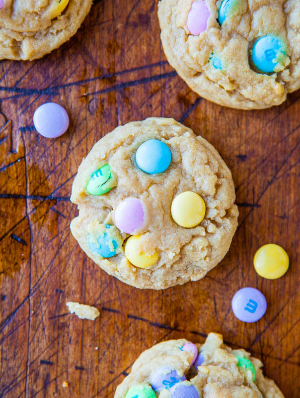 Soft & Chewy M&M Cookies
