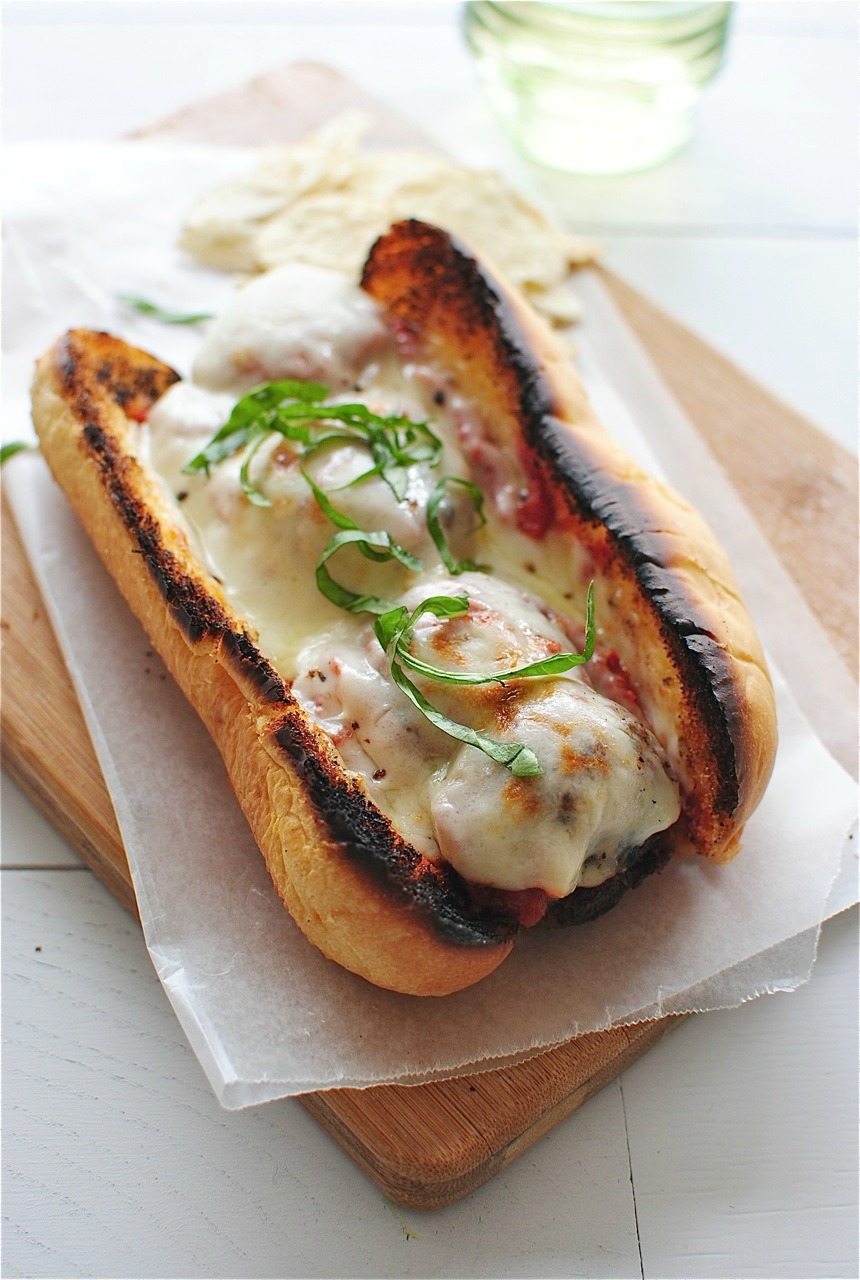Grilled Beef Meatball Subs
