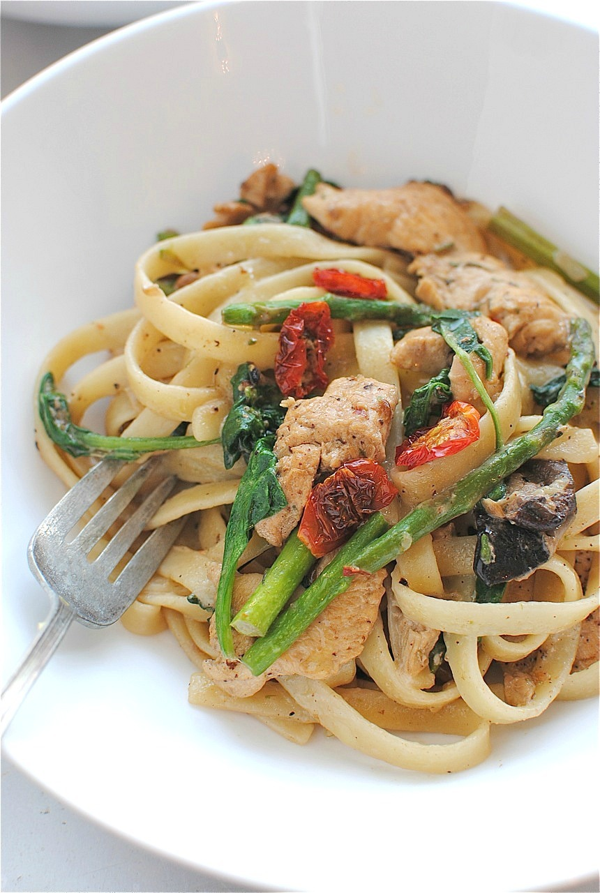 Recipe: Chicken & Vegetable Fettuccine
