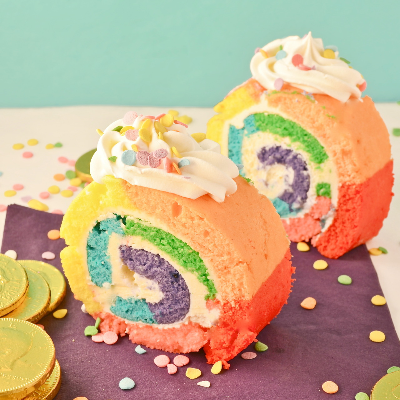 Recipe: Rainbow Cake Roll