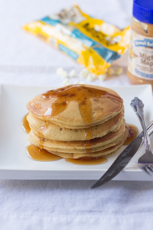 Recipe: Mighty Maple White Chocolate Pancakes