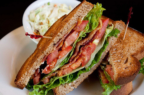 Bacon, Lettuce, and Tomato Sandwich!