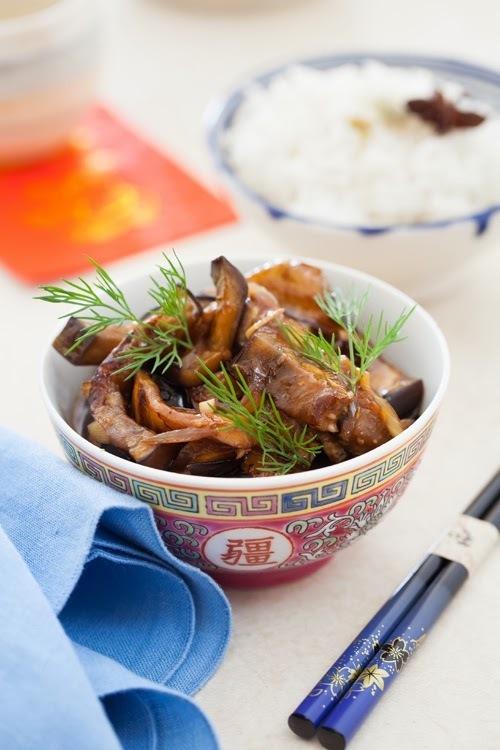 Szechuan Eggplant and Aromatic White Rice