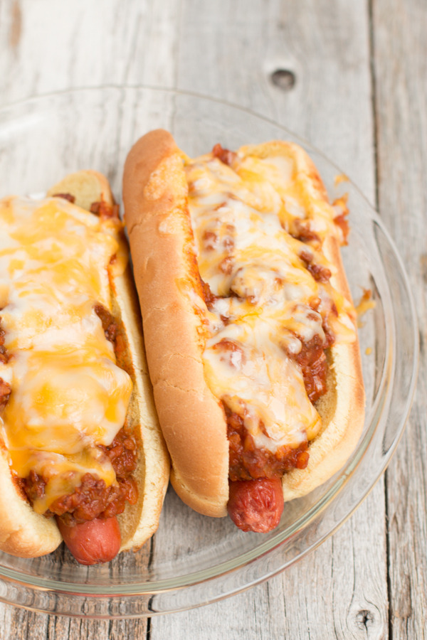 Slow-Cooker Chili Cheese Hot Dogs