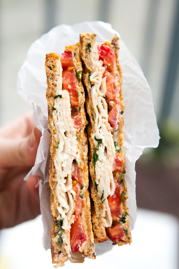 Turkey and tomato panini