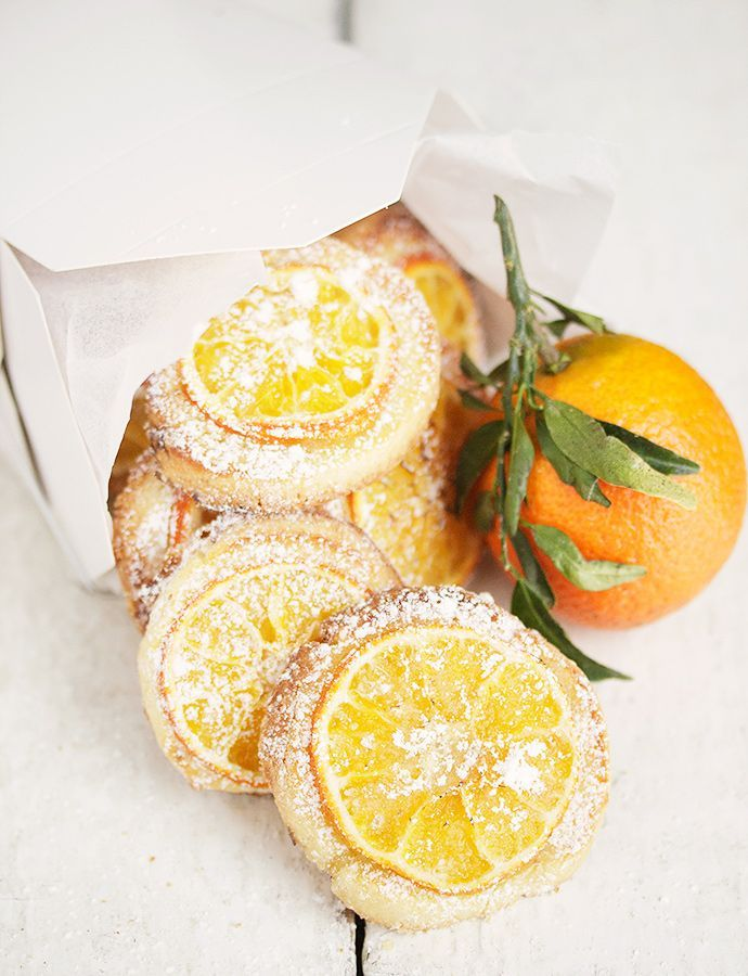 Mandarin Orange Tea Cookies