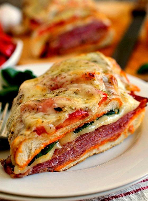 Loaded italian sub with roasted red pepper aioli