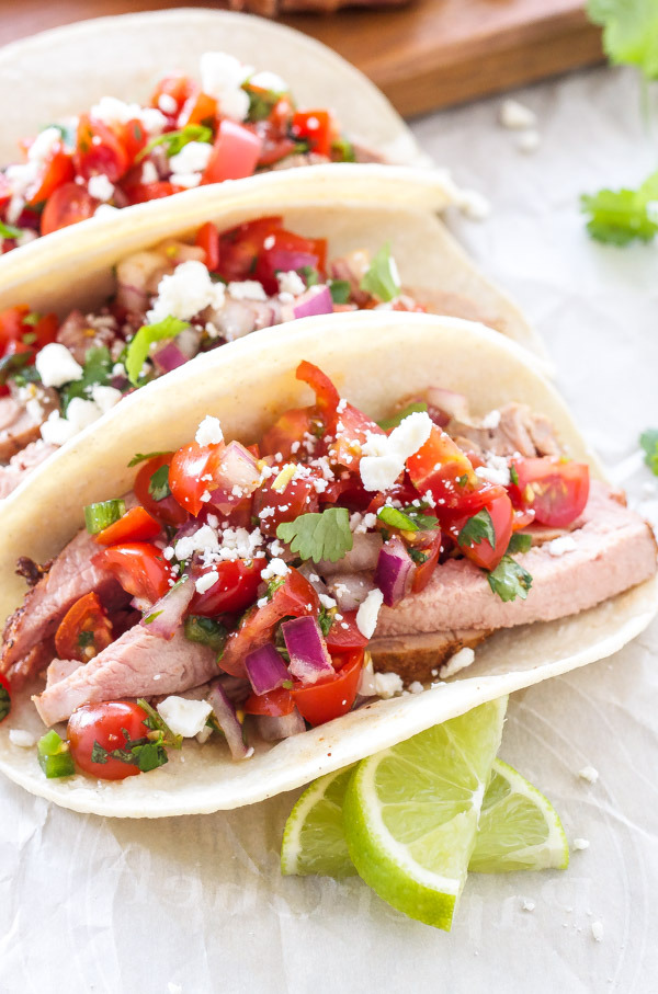 Pork Tenderloin Tacos with Pico de Gallo