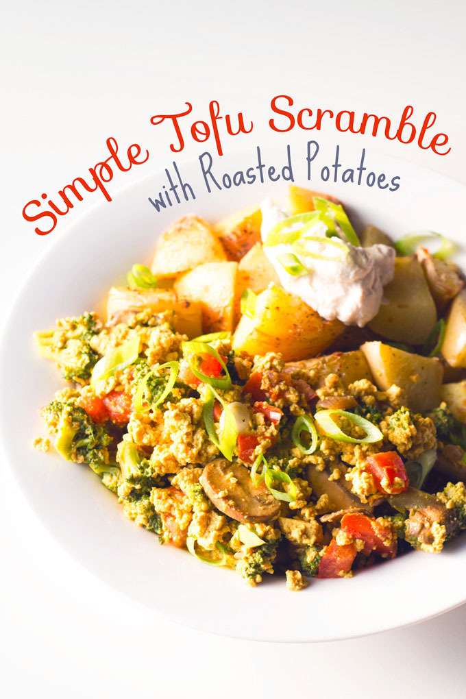(via Simple Tofu Scramble with Roasted Potatoes Eat Within Your Means)