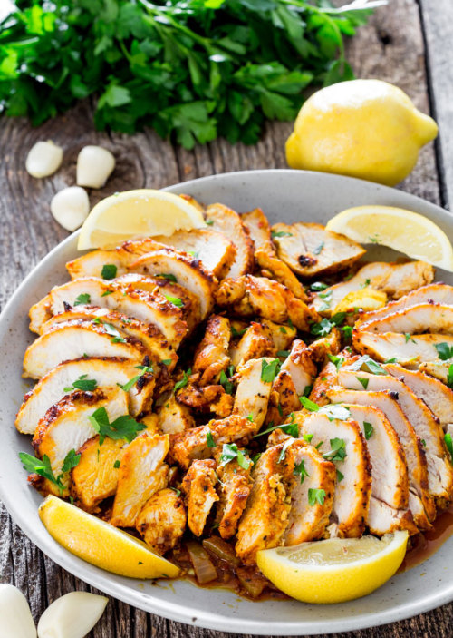 Easy Oven Roasted Chicken ShawarmaSource