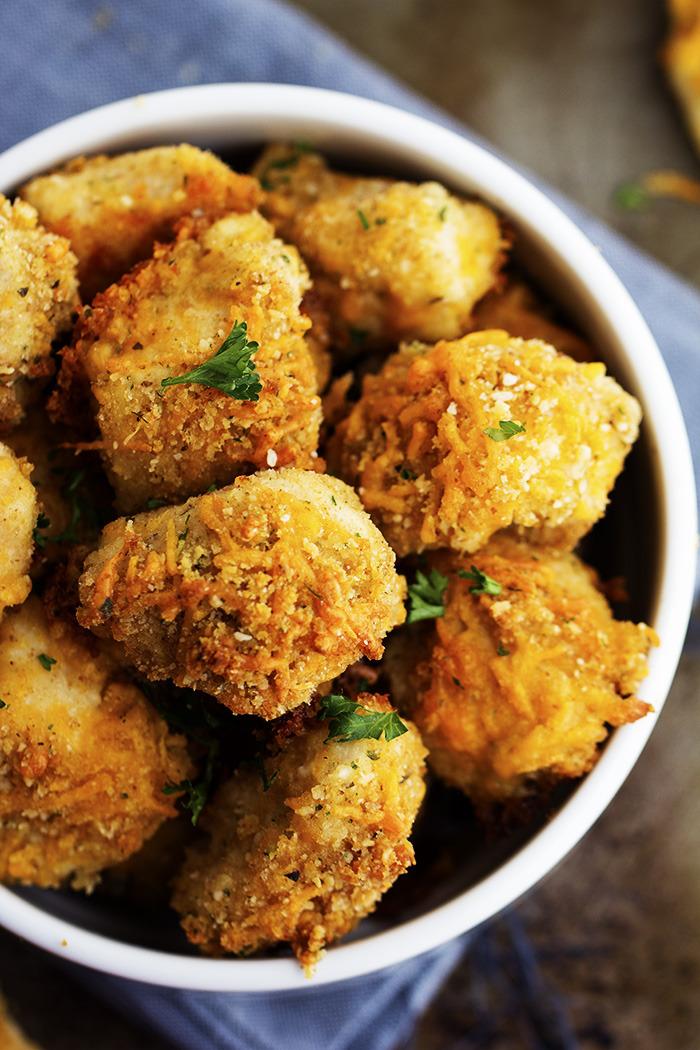 Garlic Parmesan Cheddar Chicken Bites