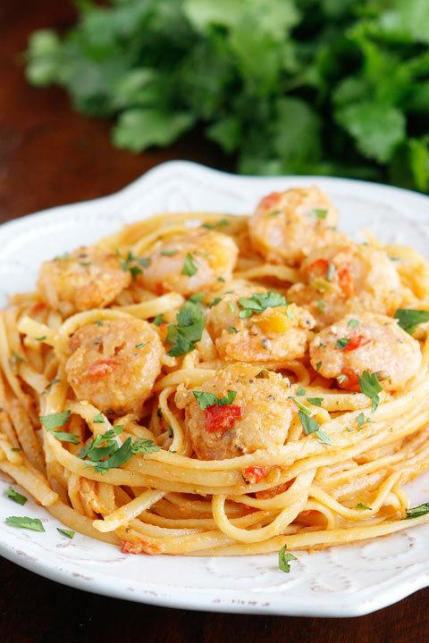 Caribbean Shrimp Pasta Kevin and Amanda